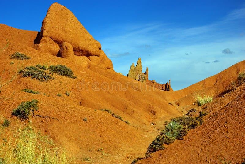 Marsbewoner bijna landschap stock afbeeldingen