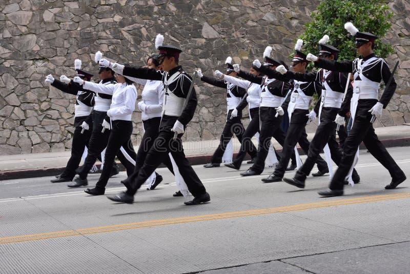 Marschera för kadetter royaltyfri foto