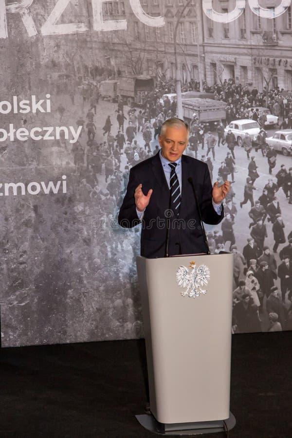 Marschera vicepresidentet för ` 68 av rådet av ministrar, ministern av vetenskap och högre utbildning - Jaroslaw Gowin arkivfoton