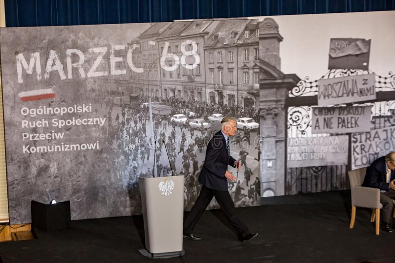 Marschera vicepresidentet för ` 68 av rådet av ministrar, ministern av vetenskap och högre utbildning - Jaroslaw Gowin arkivfoto