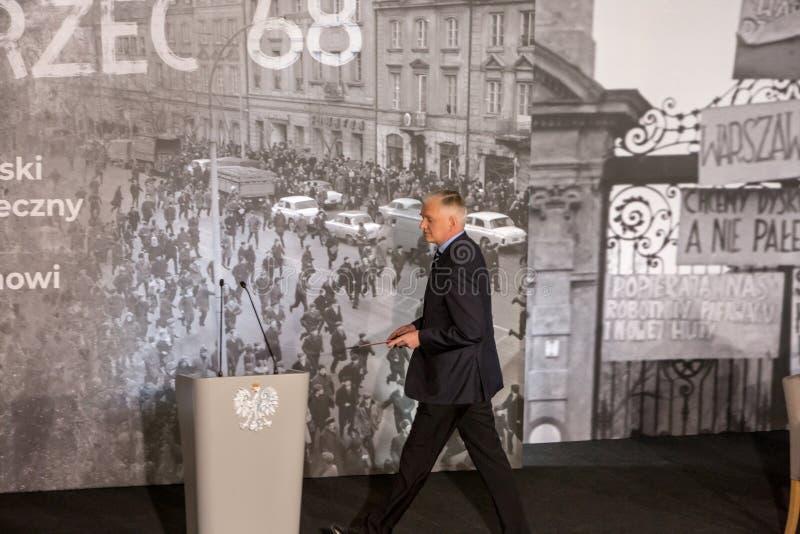 Marschera vicepresidentet för ` 68, för mars` 68 av rådet av ministrar, ministern av vetenskap och högre utbildning - Jaroslaw Go royaltyfri foto