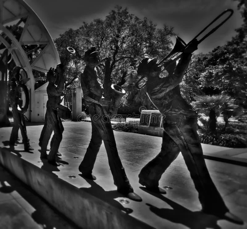 Marschierende Blaskapelle New Orleans - New Orleans, LA stockbild