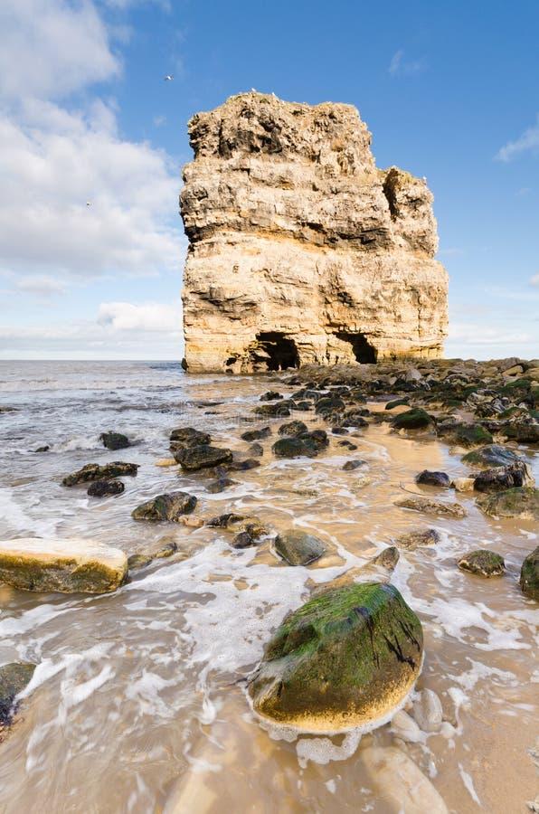 Marsden岩石和岸 免版税库存图片