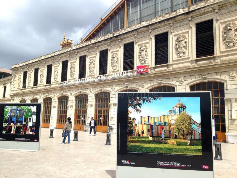 Marseille świętego Charles dworzec obrazy royalty free