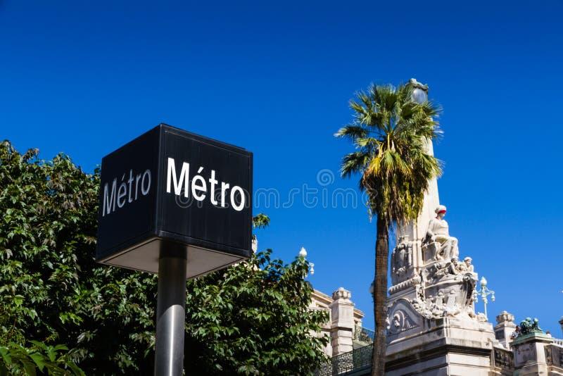 Marseille świętego Charles stacja, Francja obraz royalty free