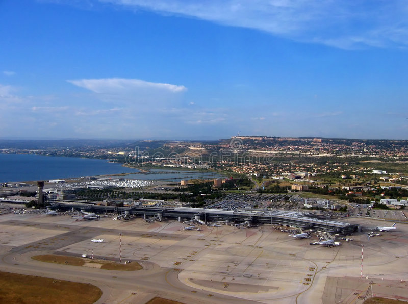 Marseille aiport royalty free stock images