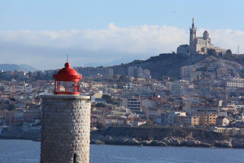 Marseille, basilique notre-damede La garde royalty-vrije stock afbeelding