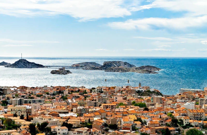 Marseille beskådar arkivfoton