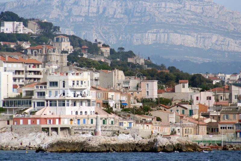 Marseille coastline stock photo