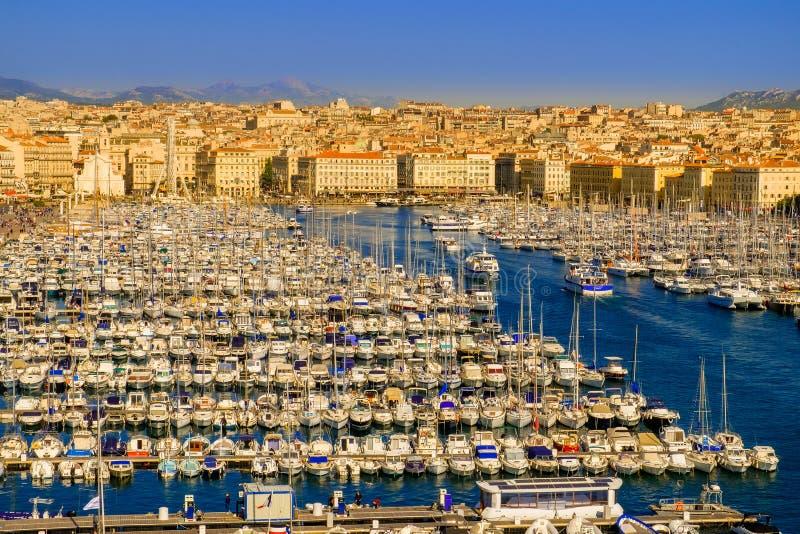 Marseille den gamla porten arkivbilder