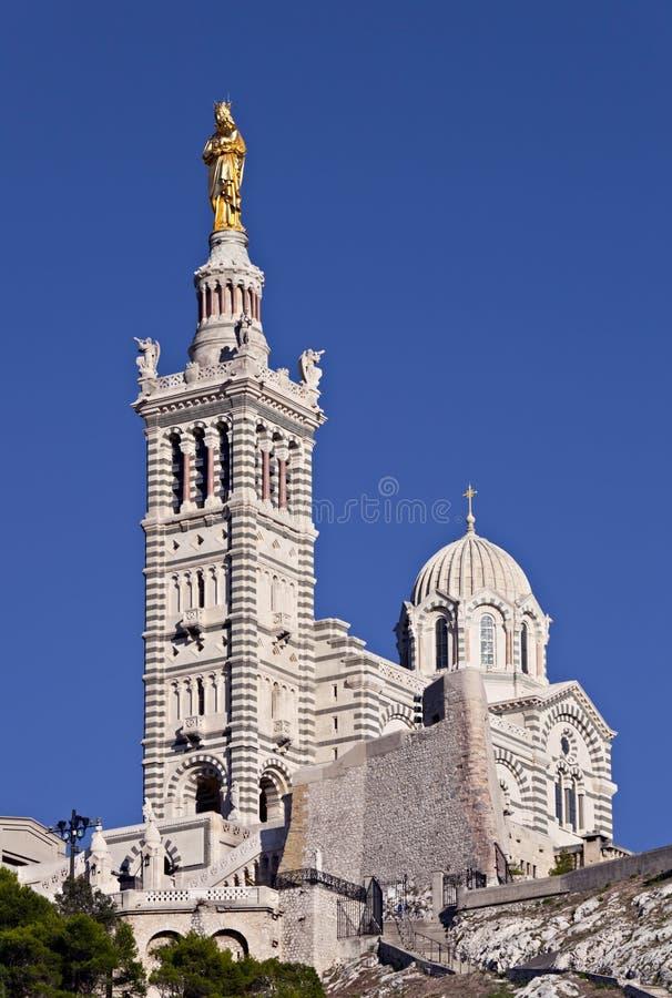 marseille för la för basiliquedame de garde notre arkivbilder