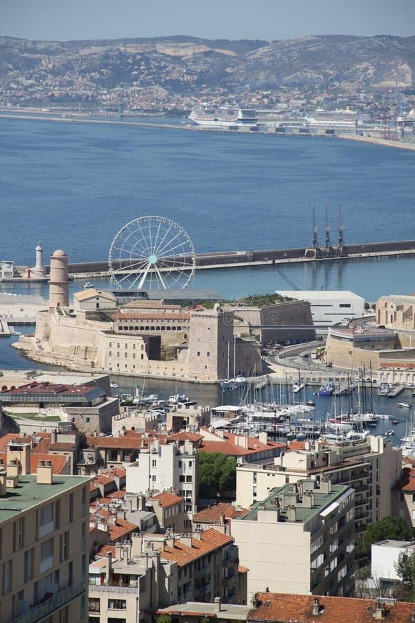Marseille från höjdpunkten arkivfoton