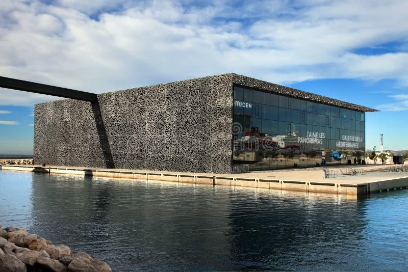 MARSEILLE, FRANKREICH - 19. November 2015: Das moderne Gebäude von M lizenzfreie stockfotografie