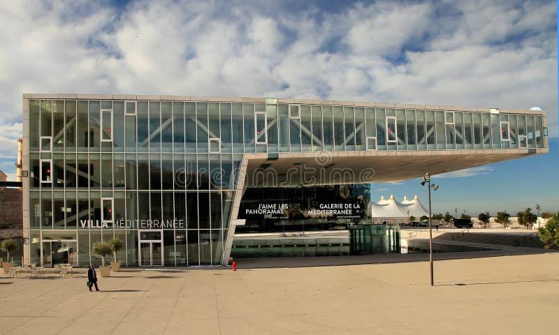 MARSEILLE, FRANKREICH - 19. November 2015: Das moderne Gebäude von M stockbild