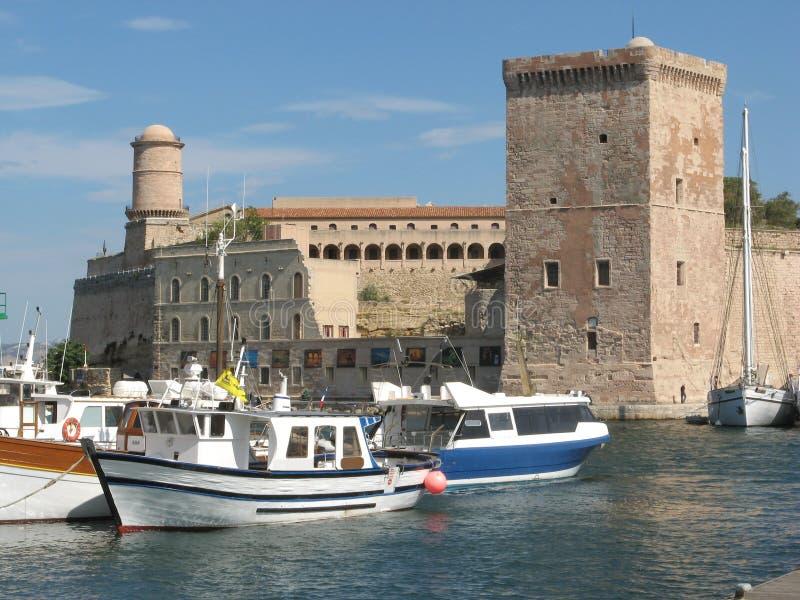 Marseille harbor royalty free stock photos