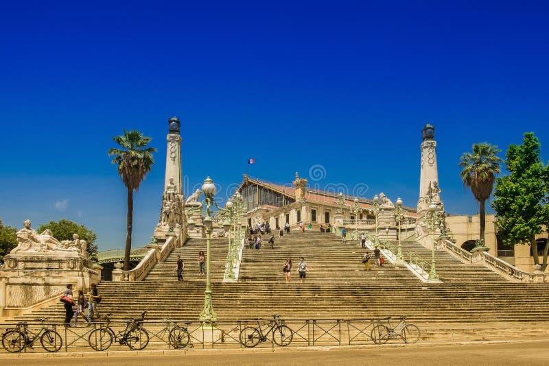 Marseille-heilige-Charles Posttreden stock foto's