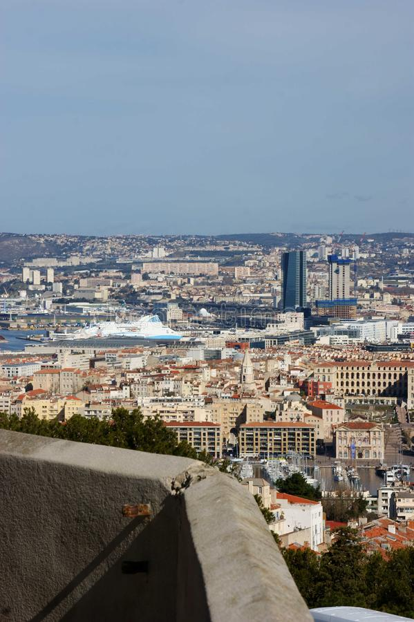 Marseille from Notre Dame royalty free stock image