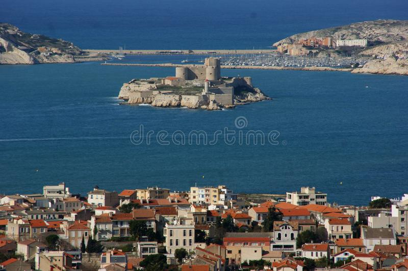 Marseille from Notre Dame stock photos