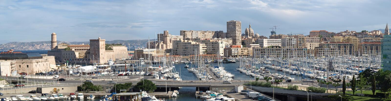 Marseille old port entrance stock image