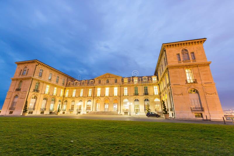 Marseille Palais Pharo stockfotos