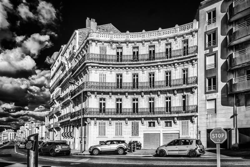 Marseille Paul Ricard kwadrat B&W zdjęcie stock