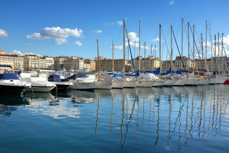Marseille port obrazy royalty free