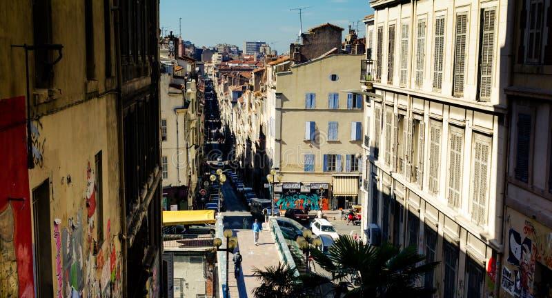 Marseille sikt arkivfoton