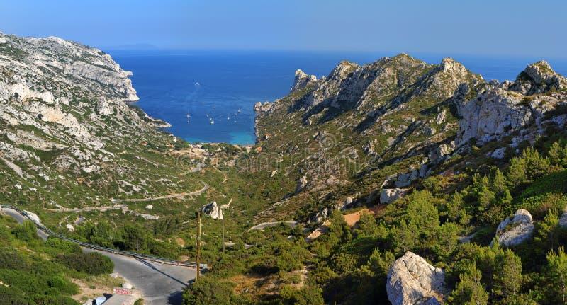 Marseille Sormiou park narodowy Calanques fotografia royalty free