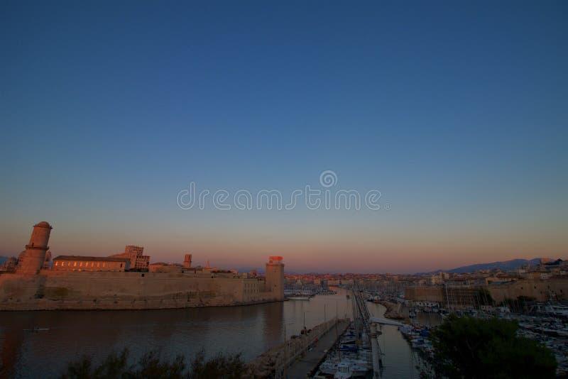 Marseille stary port w śródziemnomorskim Francja zdjęcie stock