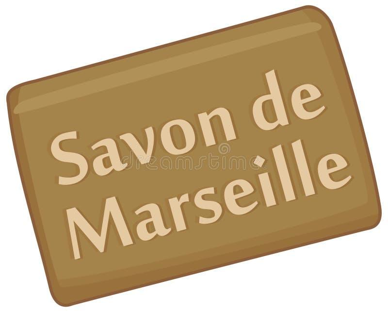 Marseille tvål stock illustrationer