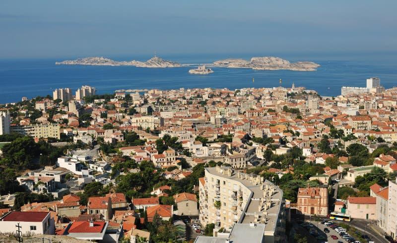 Marseille und die Inseln lizenzfreies stockbild