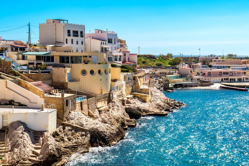 Marseille wybrzeże fotografia royalty free