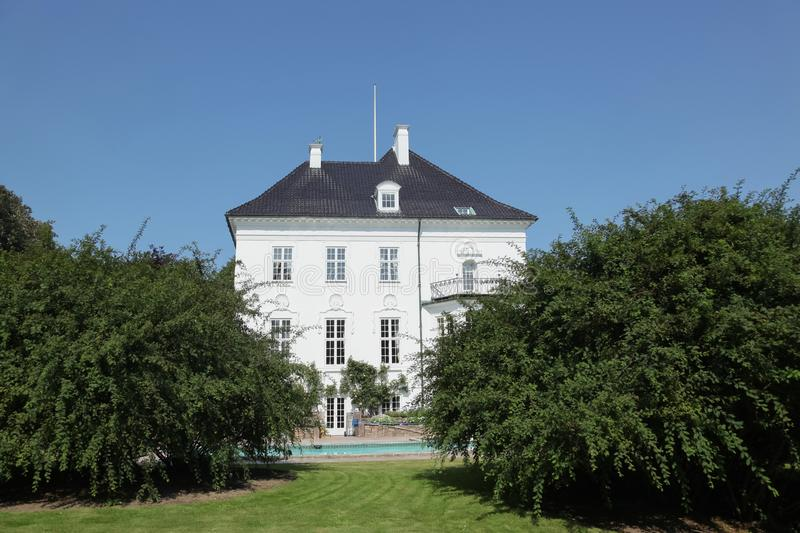Marselisborg Palace in Aarhus, Denmark. Marselisborg Palace is a royal residence of the Danish Royal family in Aarhus. It has been the summer residence of Queen royalty free stock photo