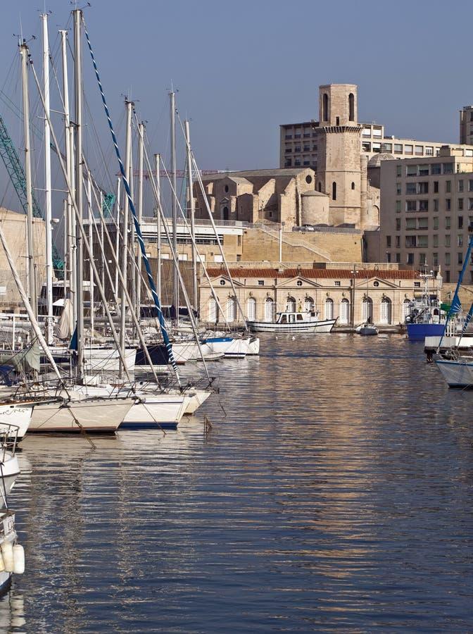 Marsella: Iglesia Saint Laurent imagenes de archivo