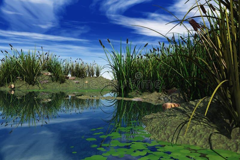 Download Marsh in 3D stock illustration. Illustration of reflection - 27270571