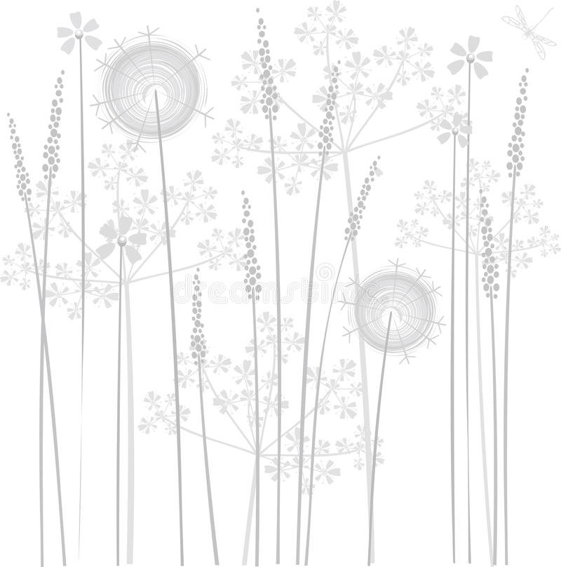 Download Marsh flowers stock vector. Image of scroll, abstract - 9978182