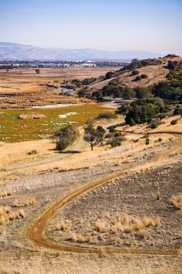 Marsh Landscape, Coyote Hills Regional Park, East San Francisco Bay Area, Fremont, California stock image