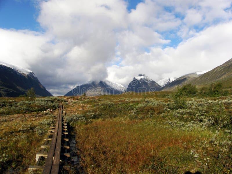 Marsh Mountain Path stock photography