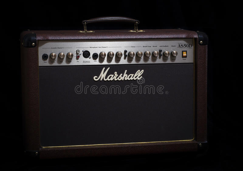 Marshall AS50D acoustic amplifier royalty free stock image