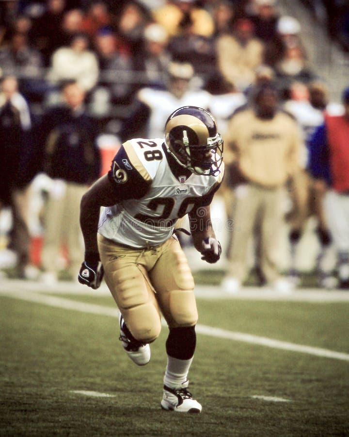 Marshall Faulk St. Louis Rams fotografia de stock royalty free