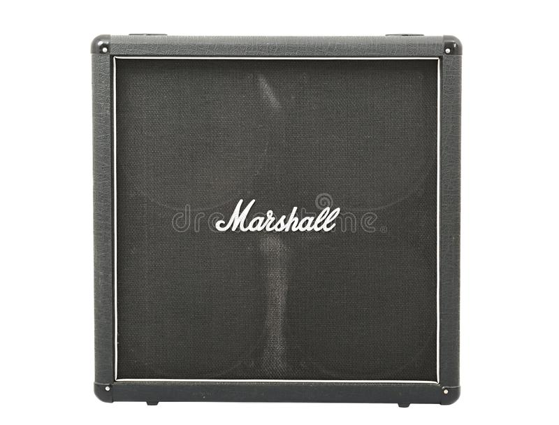 Marshall gitarrkabinett royaltyfri foto