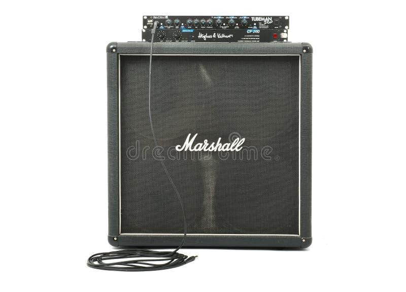 Marshall gitarrkabinett royaltyfria bilder