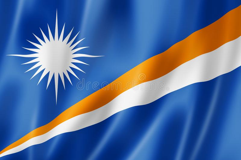 Marshall Islands Flag ilustración del vector