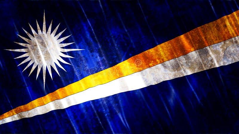 Marshall Islands Flag royalty-vrije illustratie