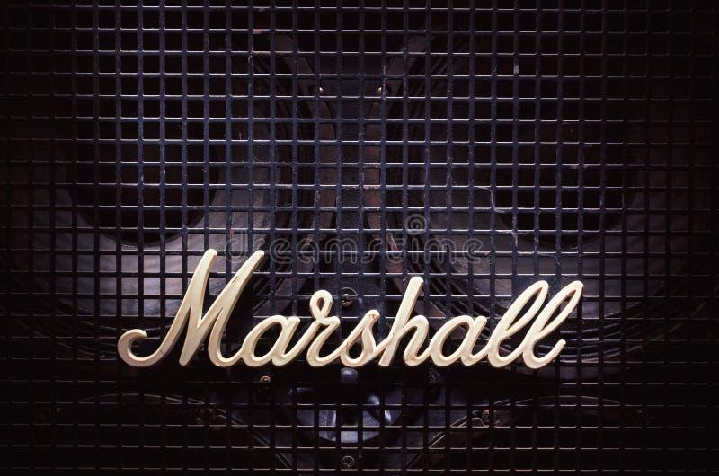 Marshall Logo sur Bass Speaker photos libres de droits
