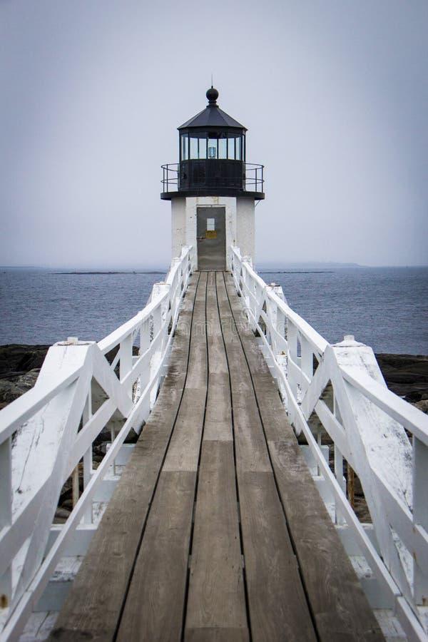 Marshall Point-Leuchtturm stockfotografie