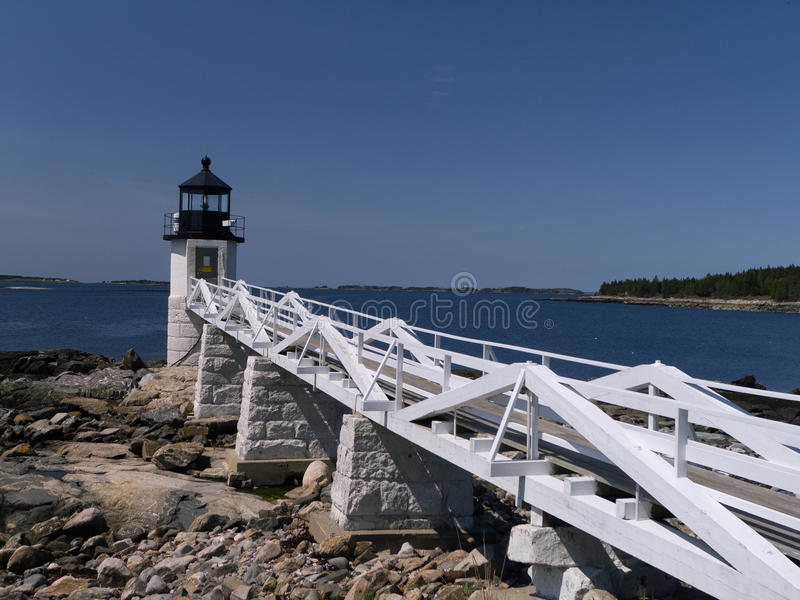 Marshall Point Lighthouse foto de archivo