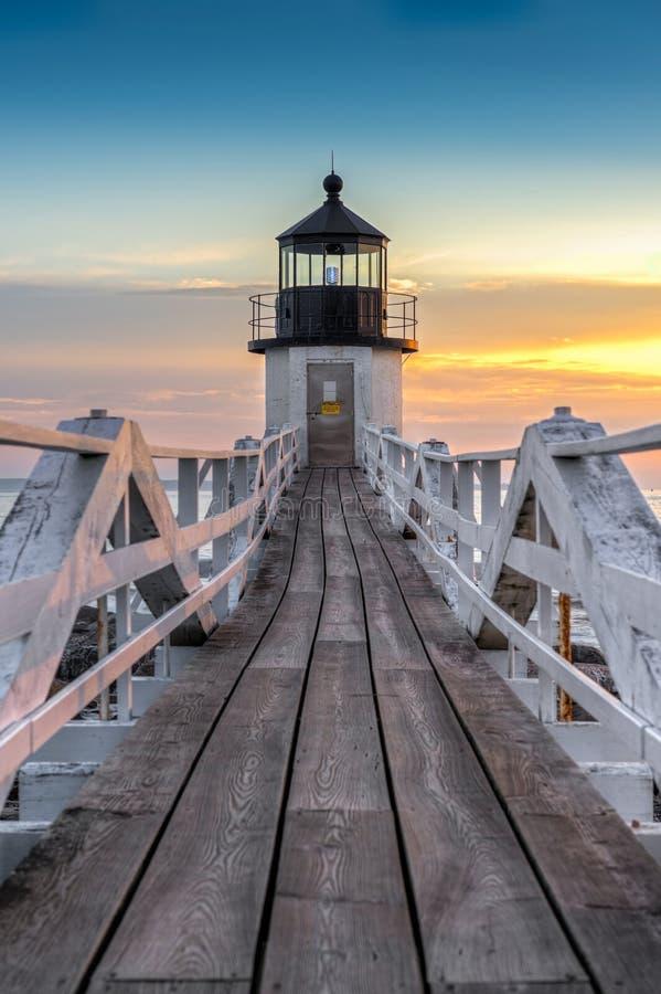 Marshall punktu latarni morskiej przejście drzwi zdjęcie royalty free