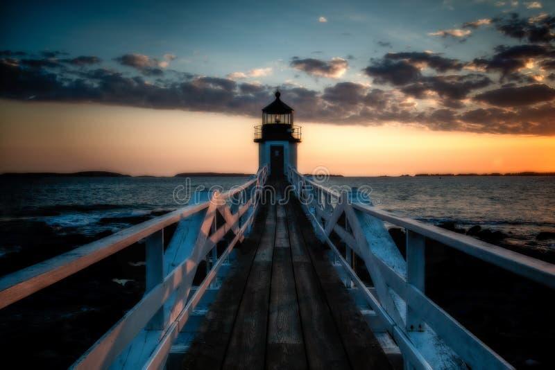Marshall punktu latarni morskiej zmierzch zdjęcia stock