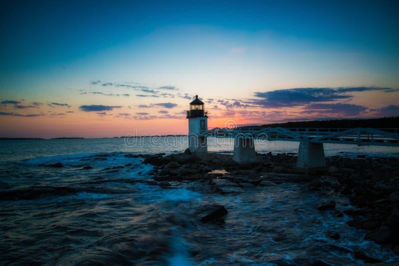 Marshall punktu latarni morskiej zmierzch fotografia royalty free